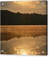 Foggy Sunrise Acrylic Print