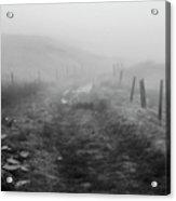 Foggy Welsh Slate Hills Acrylic Print