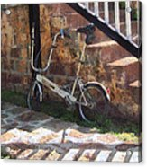 Folding Bicycle Antigua Acrylic Print