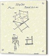 Folding Chair 1862 Patent Art  Acrylic Print by Prior Art Design