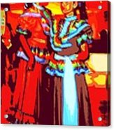 Folklorico Dancers Acrylic Print by Randall Weidner