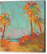 Folly Beach Surfs Up Acrylic Print