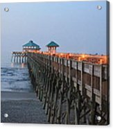 Folly Pier Acrylic Print