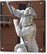 Fontana Del Nettuno. Neptune Fountain. Piazza Navona. Rome Acrylic Print