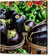 Food - Farm Fresh - Eggplant And Peppers Acrylic Print