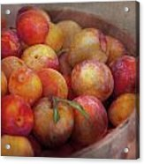 Food - Peaches - Farm Fresh Peaches  Acrylic Print by Mike Savad