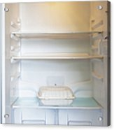 Food Container In A Refrigerator Acrylic Print by Inti St. Clair