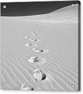 Foot Prints In White Sands 1 Acrylic Print