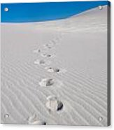 Foot Prints In White Sands 2 Acrylic Print