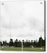 Football Field And Goalpost Acrylic Print by Andersen Ross