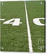 Football Field Forty Acrylic Print