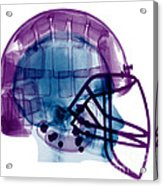 Football Helmet X-ray Acrylic Print