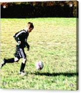 Footballer Acrylic Print