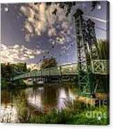 Footbridge Over The Severn  Acrylic Print