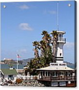 Forbes Island Restaurant With Alcatraz Island In The Background . San Francisco California . 7d14263 Acrylic Print