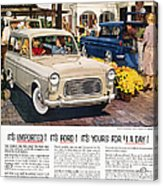 Ford Avertisement, 1959 Acrylic Print