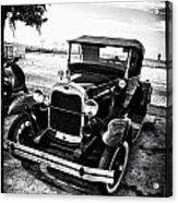Ford Model T Film Noir Acrylic Print by Bill Cannon