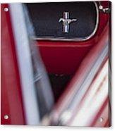 Ford Mustang Dash Emblem Acrylic Print