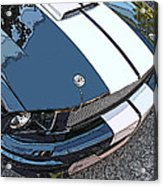 Ford Shelby Gt Nose Study Acrylic Print by Samuel Sheats