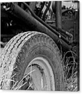 Ford Tractor Details In Black And White Acrylic Print