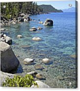 Forested Shores Of Lake Tahoe Acrylic Print