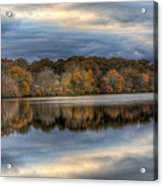 Forge River In Fall Acrylic Print