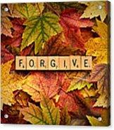 Forgive-autumn Acrylic Print