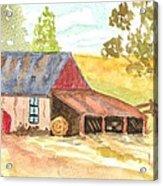 Forgotten Barn Postcard Acrylic Print