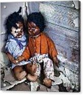 Forgotten Dolls Study IIi Acrylic Print by Norma Warden
