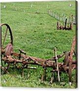 Forgotten Farm Equipment Acrylic Print