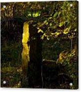 Forgotten Gatepost Acrylic Print