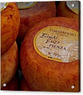 Formaggio Cheese Of Italy Acrylic Print by Roger Mullenhour