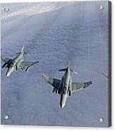 Formation Of Luftwaffe F-4f Phantom IIs Acrylic Print