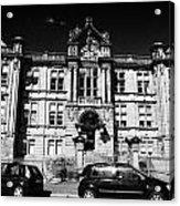 Former Kilmarnock Technical School And Academy Building Now Academy Apartments Scotland Uk Acrylic Print by Joe Fox