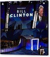 Former President Bill Clinton Addresses Acrylic Print