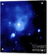 Fornax Galaxy Cluster Acrylic Print by NASA / Science Source