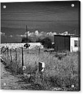fort bravo former british military base now in the UN buffer zone in the green line dividing cyprus Acrylic Print