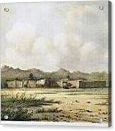 Fort Bridger, Wyoming, 1852 Acrylic Print