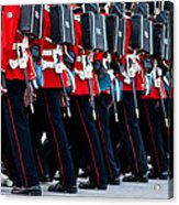 Fort Henry Guards Marching Acrylic Print