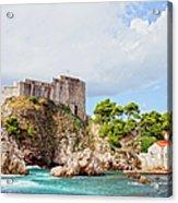 Fort Lovrijenac In Dubrovnik Acrylic Print