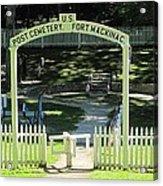 Fort Mackinac Post Cemetery Acrylic Print