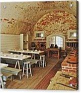 Fort Macon Mess Hall_9078_3765 Acrylic Print