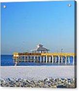 Fort Myers Beach Pier Acrylic Print
