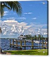 Fort Myers Dock Acrylic Print