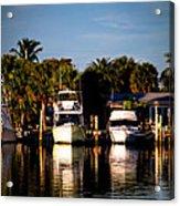 Fort Pierce Marina Acrylic Print