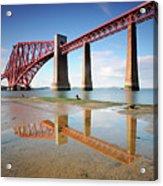 Forth Rail Bridge Acrylic Print by Stu Meech