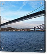 Forth Road Bridge And Forth Rail Bridge Acrylic Print
