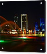 Fountain At Night Acrylic Print