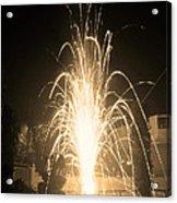 Fountain Firework Acrylic Print