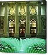 Fountain In Front Of A Government Acrylic Print